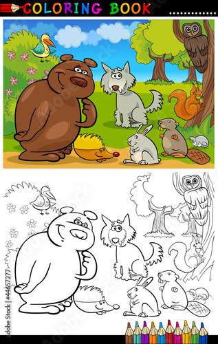 Türaufkleber Zum Malen Wild Animals for Coloring