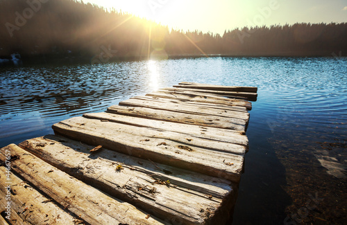 Foto auf AluDibond Pier Lake