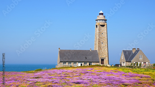 Photographie  Lighthouse on Cap Levi Fermanville. Brittany, France.