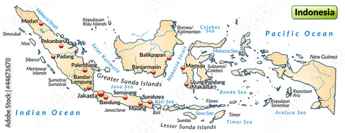 Landkarte Von Indonesien Buy This Stock Vector And Explore