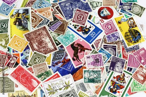 Canvastavla Briefmarken