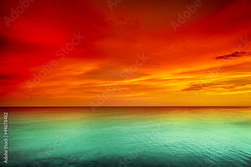 Acrylic Prints Cuban Red Sunset