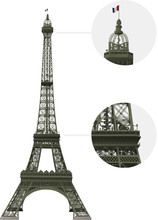 Vector Detailled Eiffel Tower ...