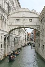 Famous Bridge Of Sighs In Venice