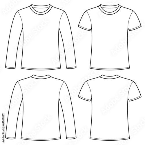 Long-sleeved T-shirt and T-shirt template Plakát
