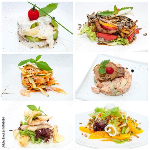 Foto op Canvas Snack салаты из фруктов и овощей