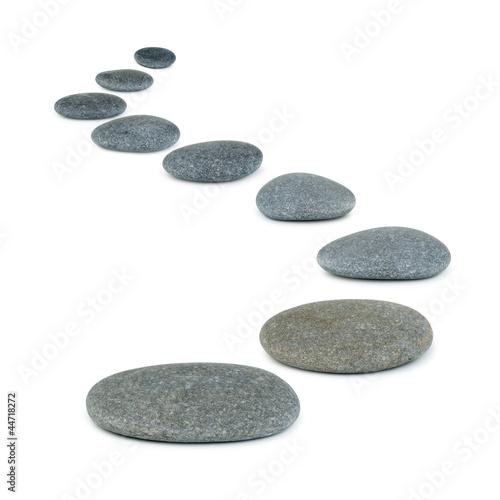 Fotografía  Row pebbles