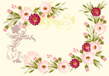 Design with flower elements