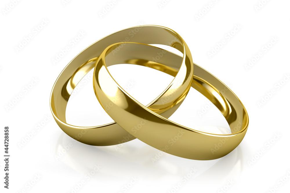 Fototapety, obrazy: Goldene Ringe