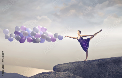 Keuken foto achterwand Dance School balloons