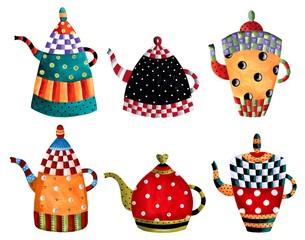 Panel Szklany Podświetlane Do herbaciarni Tea time invitation