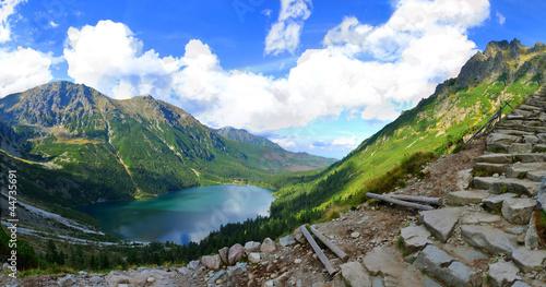 Photo  Morskie Oko lake in polish Tatra mountains