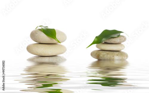 Photo sur Plexiglas Zen pierres a sable Spa stones.