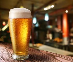 Fototapeta Glass of light beer