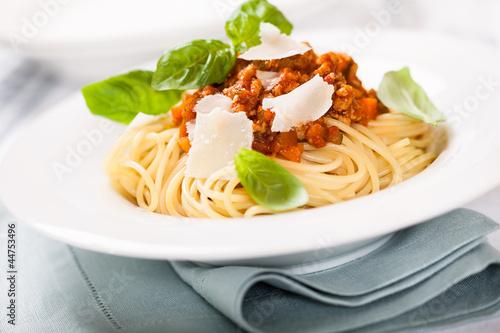 Spaghetti con ragù alla bolognese (spaghetti with meat sauce) Wallpaper Mural