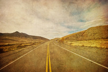 Grunge Image Of Highway And Bl...