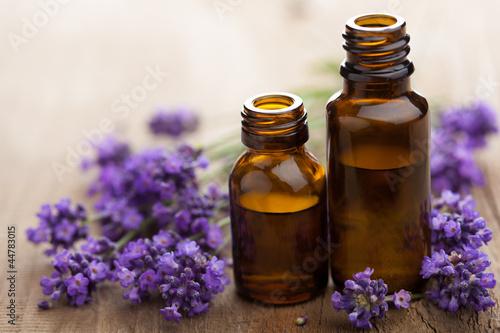 Doppelrollo mit Motiv - essential oil and lavender flowers (von dusk)