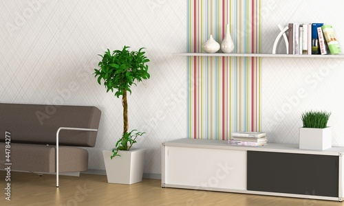 Aluminium Prints Bonsai Designerwohnung