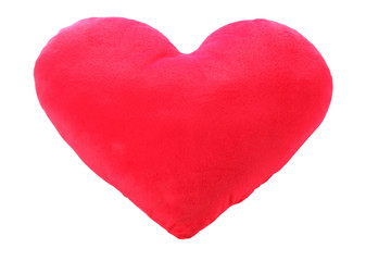 Heart love red pillow