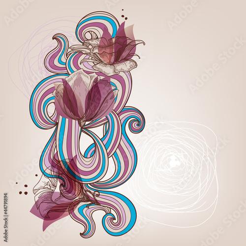 ilustracja-wektorowa-kwiatowy-karty