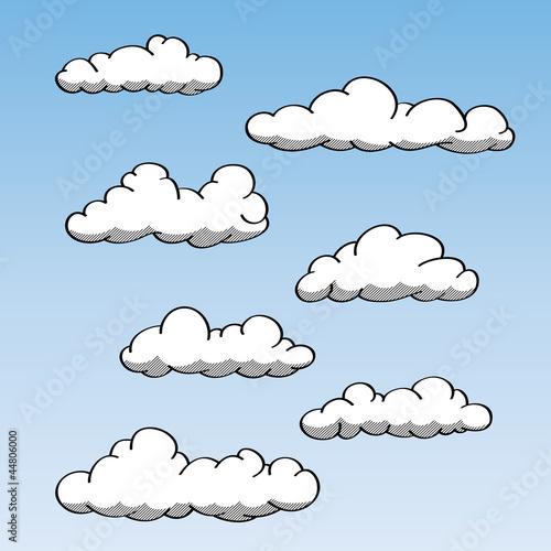 Papiers peints Ciel Hand Drawn Clouds