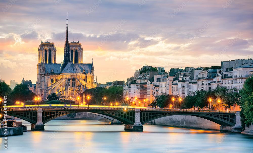 Fototapety, obrazy: Notre Dame w Paryżu, Francja