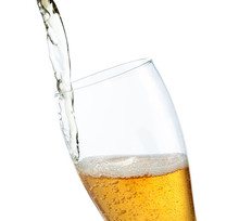 Pouring Beer Into Glass Isolated