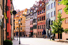 Half Timbered Houses Of The Old Town, Nuremberg, Germany
