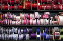 ASSORTED COLORFUL RIBBONS