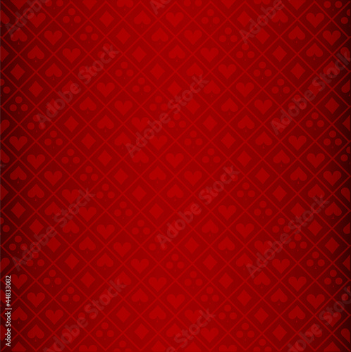 Vector of red poker background Poster