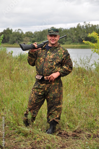 Fotobehang Jacht Russian Hunter