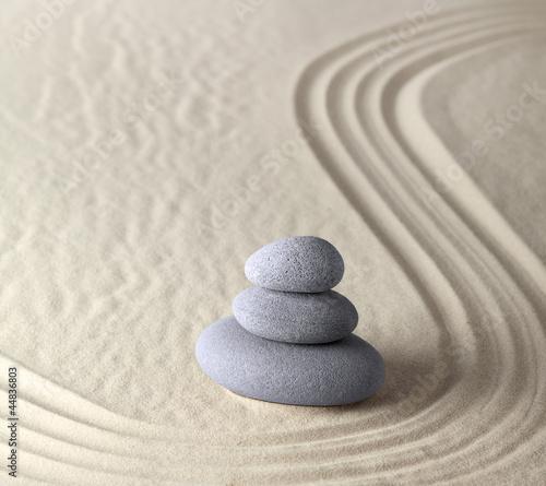Foto op Plexiglas Stenen in het Zand harmony and balance, zen