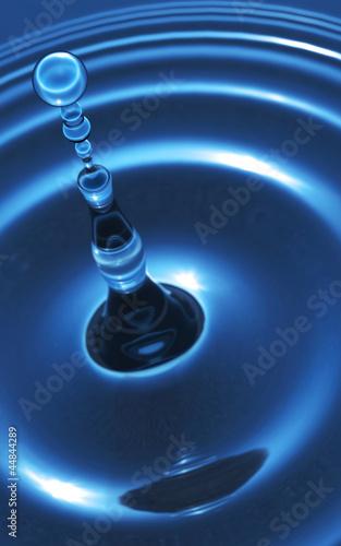 Plissee mit Motiv - Die Essenz des Wassers