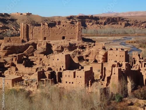 Tuinposter Marokko Kasbah marocco