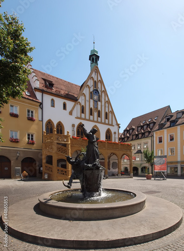 Altes Rathaus in Amberg Canvas Print