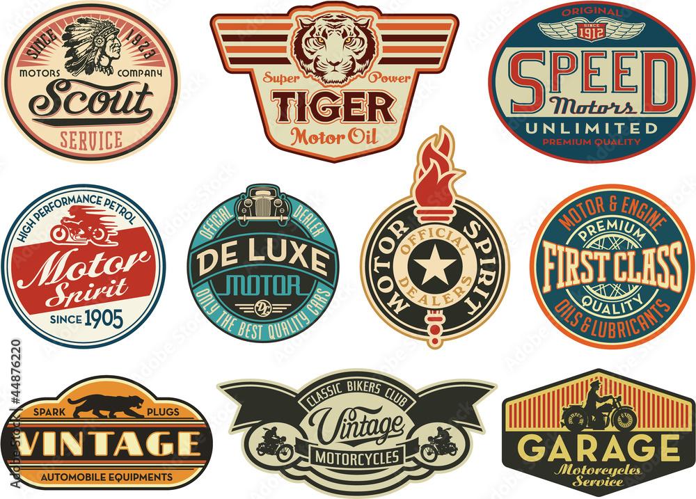 Fototapeta Motor company vintage abels