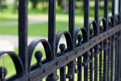 Obraz Metal fence - fototapety do salonu