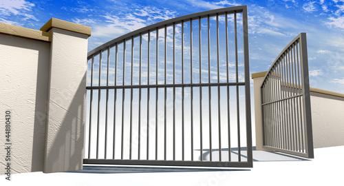 Fotografie, Obraz  Open Gates And Wall