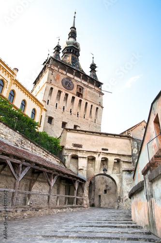 Fotografie, Obraz  Clock Tower at Sighisoara Citadel in Sighisoara,  , Transylvania