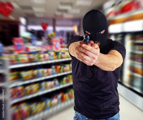Fototapeta Robbery in the store