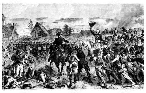 Napoleonian Battle - 18th century - Fleurus Canvas Print
