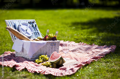 Foto auf Leinwand Picknick Perfect food in the garden. picnic