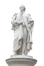 Johann Wolfgang Von Goethe Statue With Clipping Path