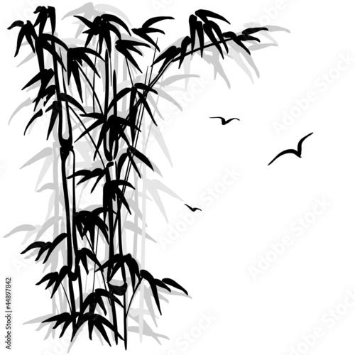 Bamboo silhouette