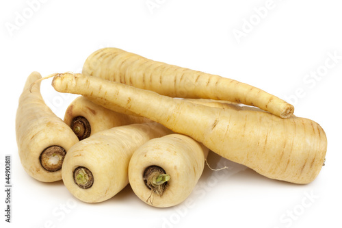 Canvas Prints Vegetables Parsnips Isolated on White