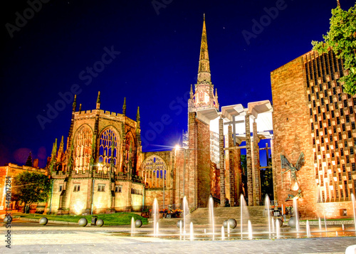Photo Cathedral at night Coventry