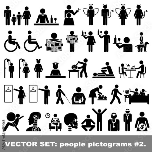Vector Set: People pictograms #2 Poster
