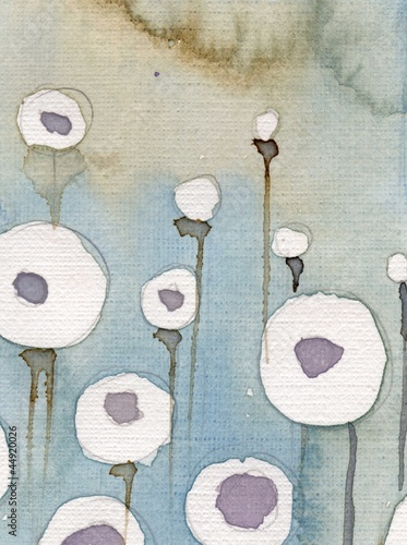 Cadres-photo bureau Inspiration painterly tło z kwiatami