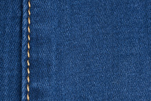 Yellow Seam On Denim