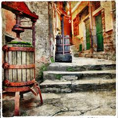 Fototapeta na wymiar streets of old italy